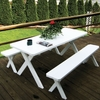 Cross-legged Table with Benches 4', 5', 6', or 8'