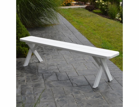 Crosslegged Backless Bench - 2', 3', 4', 5', 6' & 8' Options