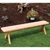 Crosslegged Cedar Backless Bench - 2', 3', 4', 5', 6' & 8' Options