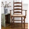Curved Ladderback Wooden Dining Arm Chair – Color Options
