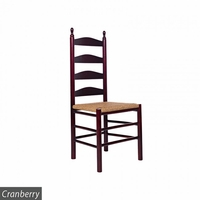 Curved Ladderback Wooden Dining Chair – Color Options