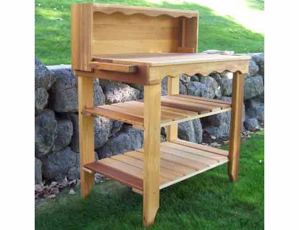 Designer Cedar Wood Potters Bench