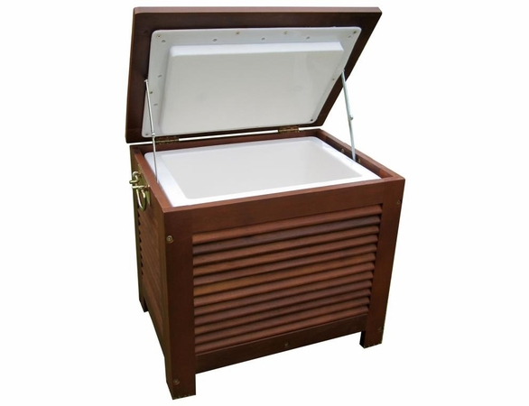 Eucalyptus Hardwood Wooden Patio Cooler with Double Wall Plastic Cooler Insert