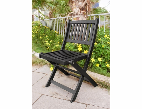 Eucalyptus Wood Folding Dining Chairs - Set/4