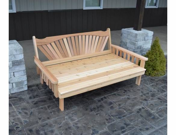 Fan Back Daybed 4', 5' or 6'<br>(Available in Cedar or Pine)