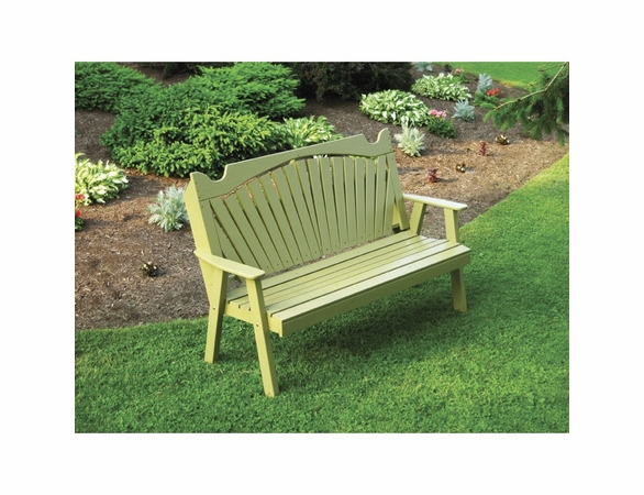 Fan Back Garden Bench 4' or 5'