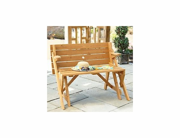 Fir/Hardwood Mix Interchangeable Picnic Table and Garden Bench