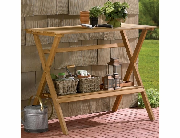 Fir Wood Console Table/Simple Potting Bench