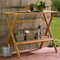 Hemlock Wood Console Table/Simple Potting Bench