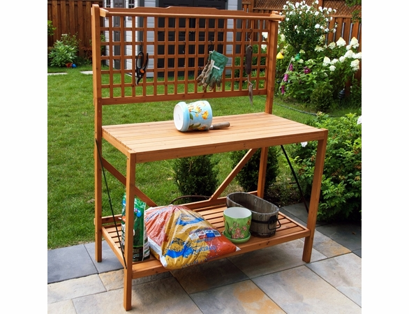 Fir Wood Foldable Potting Bench