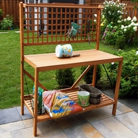 Hemlock Wood Foldable Potting Bench