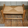 Fireside Bench with Woven Seat