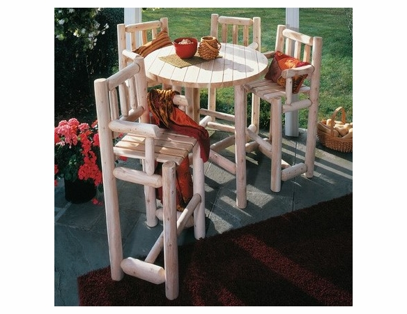 Five Piece Cedar Log Style Bistro Set - Not Currently Available
