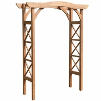 Garden Arbor with Criss Cross Lattice