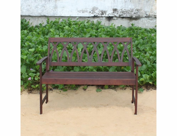 Hardwood Curved Criss Cross Back Garden Bench