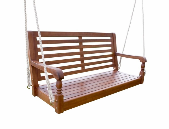 Hardwood Simple Back Nantucket Porch Swing