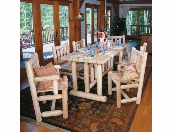 Harvest Family Cedar Log Style Dining Set - Not Currently Available
