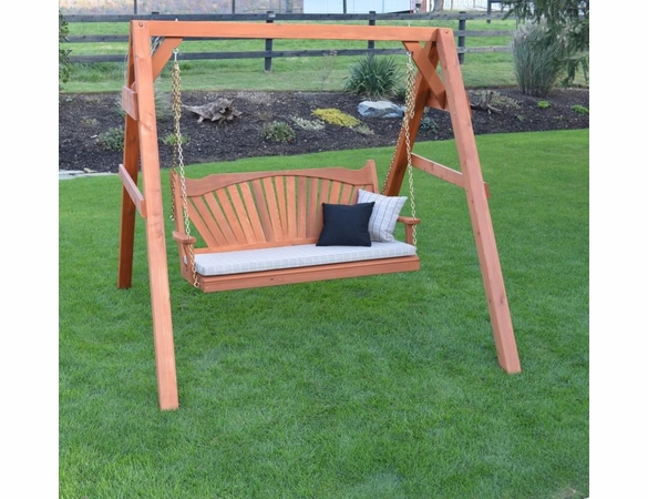 Heavy Duty Cedar A-Frame Swing Stand with Hanging Hardware