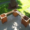 Heritage Double Planter Bench: 5pc. Set