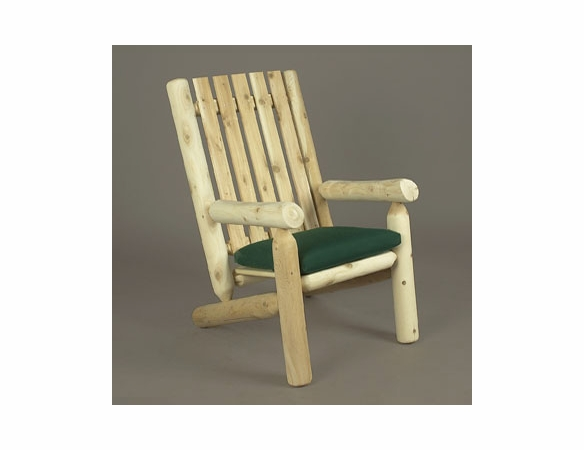 High Back Cedar Log Style Lounge Arm Chair
