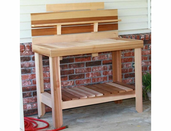 Home Growers Cedar Potting Table - Not Currently Available