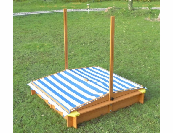 Kids Wooden Outdoor Sandbox with Canopy - Available to ship Mid July