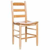 Ladderback Dining Chair with Slat Seat – Color Options