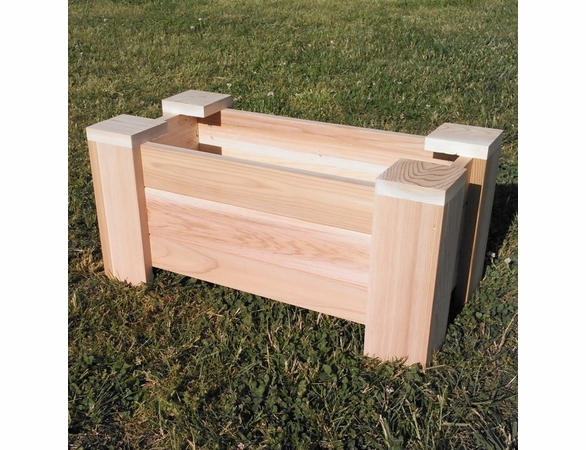 Large Cedar Planter with Sturdy Diamond Trellis - Exclusive Item - Not Currently Available