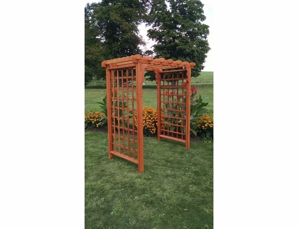Lexington Flat Top Cedar Arbor - Multiple Sizes Available