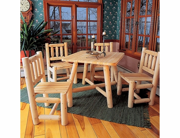 Log Dining Set / 5pc. - Not Currently Available
