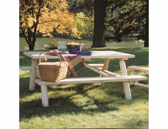 Log Picnic Table - Not Currently Available