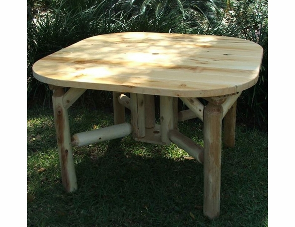 """Log Style 47"""" Square Dining Table - Out of Stock 'til Late July"""