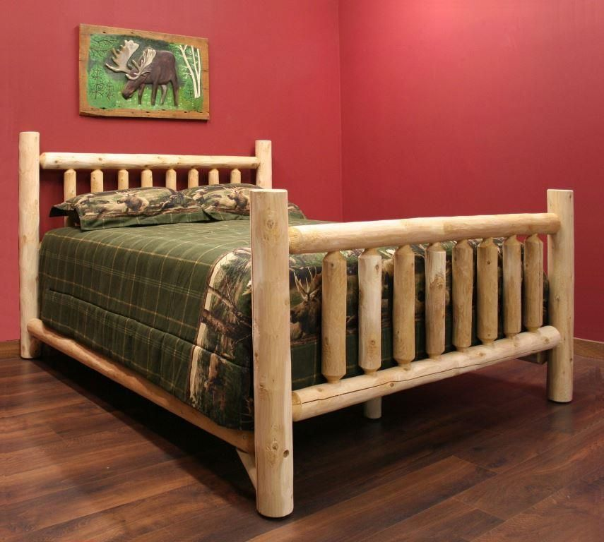 Cedar Log Style Bed Frame Cedarwoodfurniture Com
