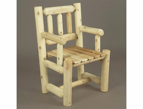 Log Style Captain's Chair