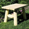 Log Style End Table