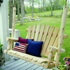 Log Style Fan Back Porch Swing