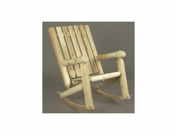 Log Style High Back Rocking Chair