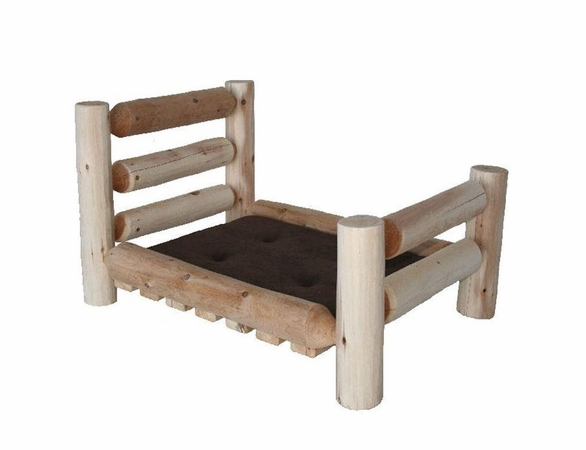 Log Style Pet Bed