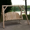 Log Style Yard Swing Set