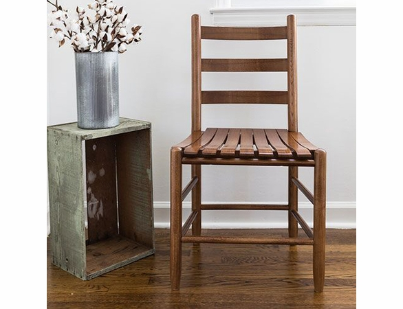 Mission Style Ladderback Dining Chair with Slat Seat – Color Options