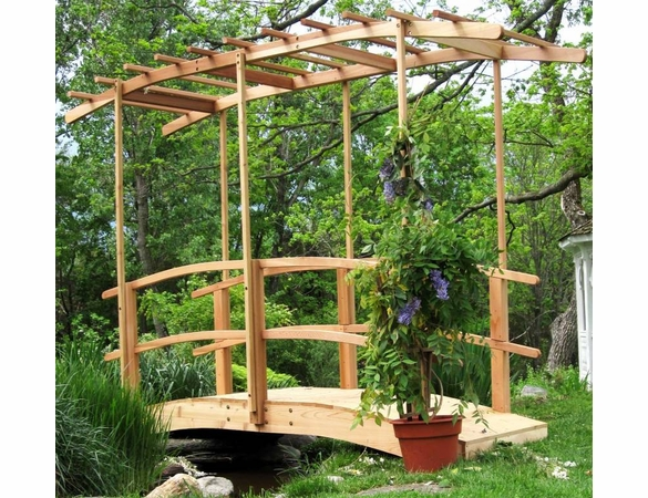 Monet's Cedar Garden Bridge with Canopy - Currently Unavailable