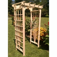 Treated Pine Morgan Flat Top Arbor - Multiple Sizes Available