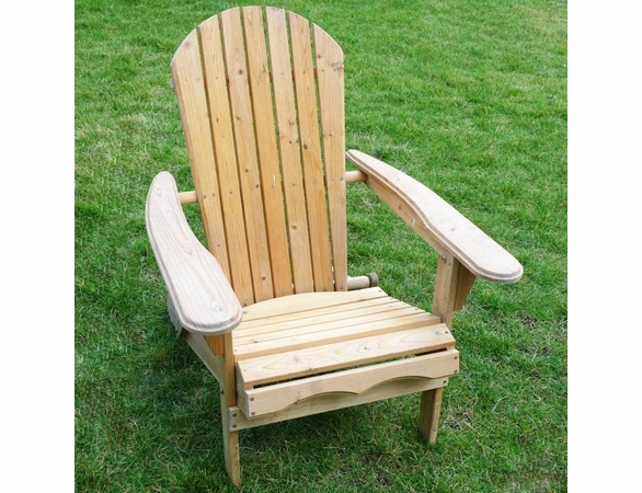 Natural Wood Folding Adirondack Chair Kit