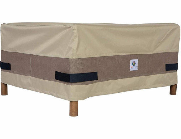 """Patio Ottoman or Side Table Cover - 24"""" X 24"""" - Duck Covers Elite"""