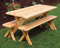 Astounding Cedar Wood And Redwood Picnic Tables And Dining Tables Bralicious Painted Fabric Chair Ideas Braliciousco