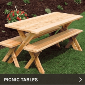 Sensational Cedar Wood And Redwood Picnic Tables And Dining Tables Customarchery Wood Chair Design Ideas Customarcherynet
