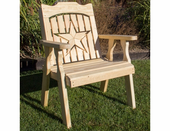 Pine Chair with Starback Cutout