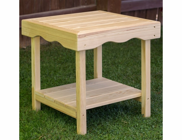 Pine Rectangular End Table