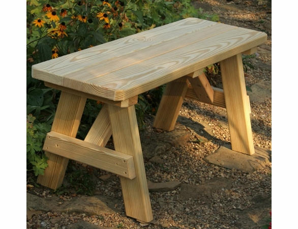 Pine Traditional Garden Backless Bench
