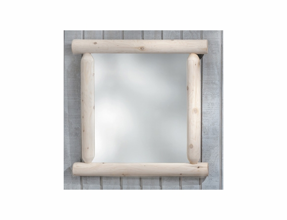 Plain Log Style Wilderness Mirror - Not Currently Available